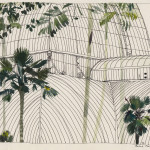 katrin coetzer_edinburgh palm house_ink and gouache on cotton paper_165x235mm_framed_web
