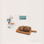 katrin coetzer_loaf cake_gouache on cotton paper_195x195mm_framed_web