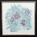 bruce mackay_collect_2014_pen and ink on arches platine 300gm_515x515mm_framed_web