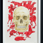 daniel du plessis_canis mortis_2014_ink and acrylic on paper_390x290mm_framed_web