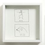 jade klara_fuck you im a dog_2014_ink on hahnemuhle_170x170mm framed_web