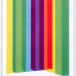 PIERRE LE RICHE. Colour Cage #2, 2016. Screenprint. Edition of 15. 715 x 505mm. Framed
