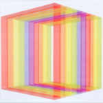 PIERRE LE RICHE. Colour Cage #4, 2016. Screenprint. Edition of 15. 715 x 740mm. Framed