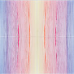 PIERRE LE RICHE. Hologram H5, 2016. Acrylic thread and perspex. 700 x 800 x 80mm