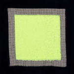 PIERRE LE RICHE. Tapestries in acid green, 2016. Acrylic yarn on tapestry mesh. 600 x 600 x 45mm - 1