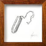 HANNO VAN ZYL. Tampon, 2016. Ink, Letratone on paper. 125 x 125mm. Framed